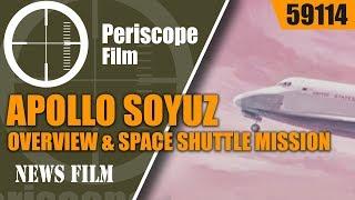 1970s NASA FILMS  APOLLO SOYUZ MISSION OVERVIEW & SPACE SHUTTLE MISSION PROFILE 59114