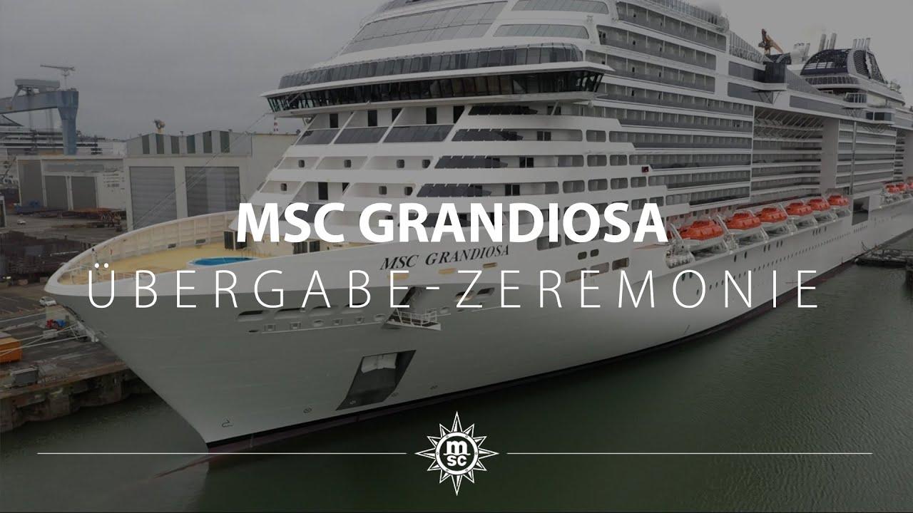 Taufe In Hamburg Msc Grandiosa Stößt 2019 Zur Flotte