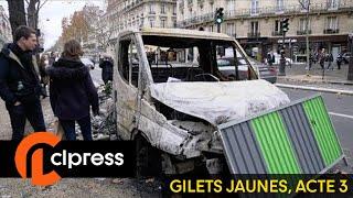 Gilets jaunes :  les dégâts à Paris après les violences (2 décembre 2018, Paris)