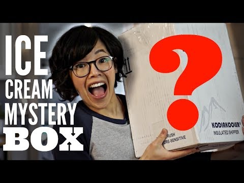Ice Cream MYSTERY BOX Unboxing & Taste TEST