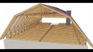 строительство мансарды , крыши , стропила .