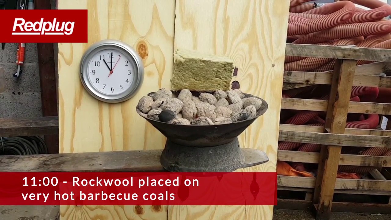 Insulation fire test rockwool sheeps wool cellulose for Rockwool fire rating