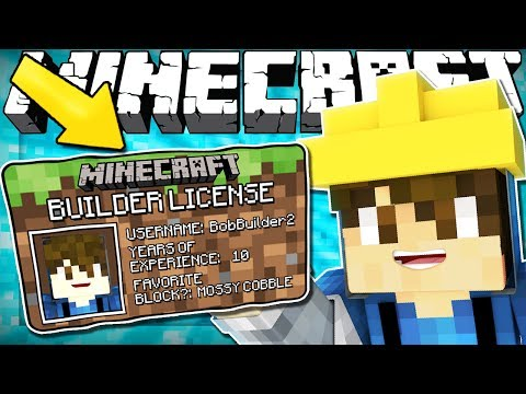 If You Needed a BUILDERS LICENSE To Build - Minecraft