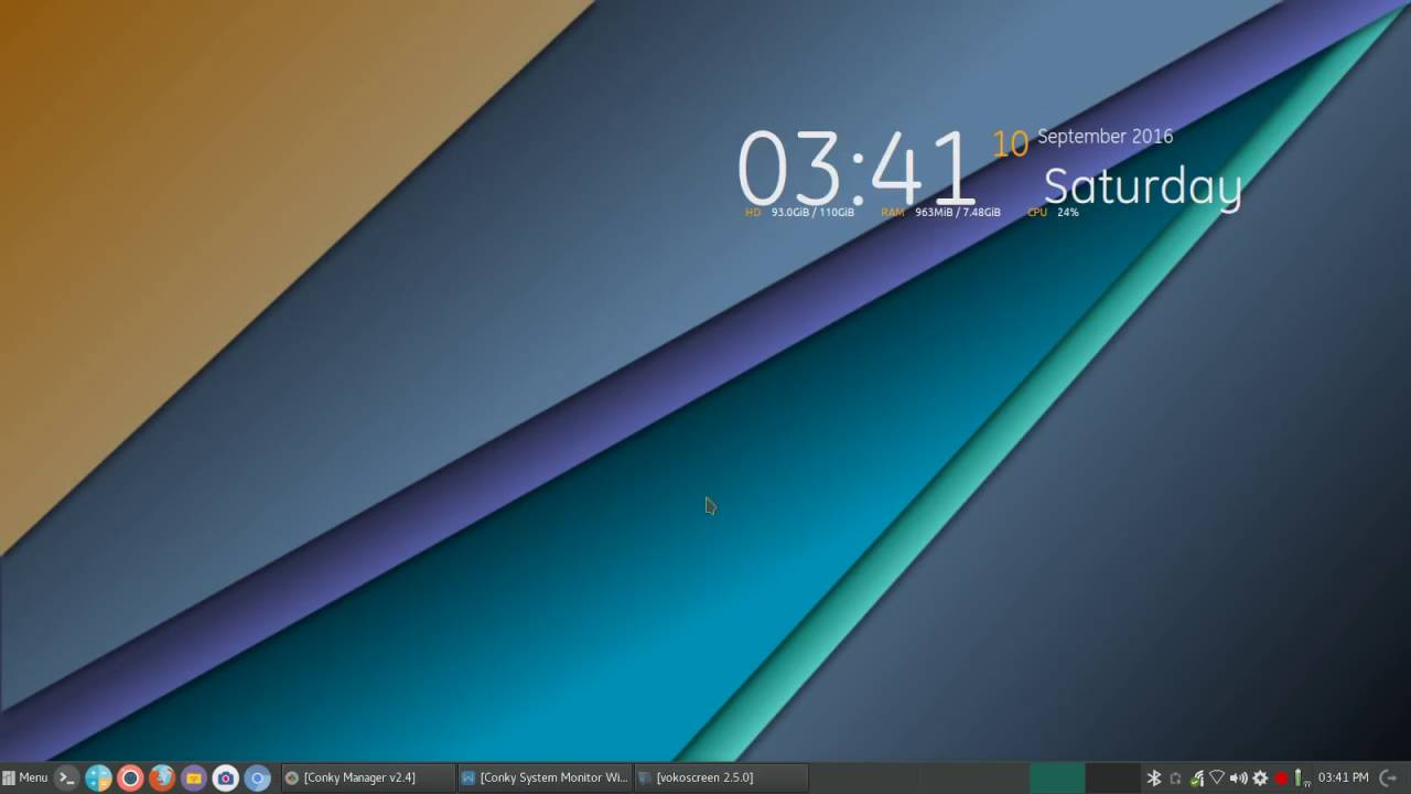 Conky Linux System Widget - Settings & Themes
