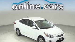 R12329TR Used 2017 Hyundai Accent White Sedan Test Drive, Review, For Sale
