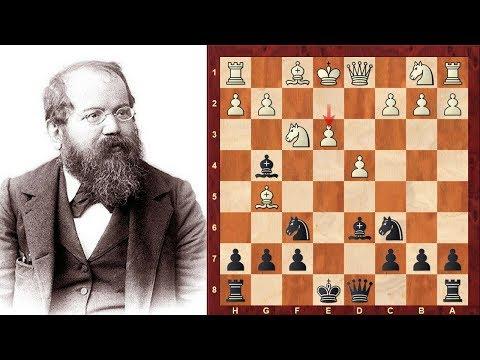 Interesting Chess Game: Henry E Bird vs Wilhelm Steinitz : Match (1866):London England: Bird Opening