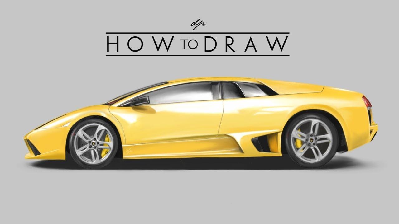 How To Draw A Lamborghini Murcielago Lp640 Step By Realistic Drawingpat