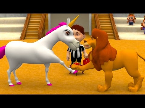Lion and the Unicorn | Kindergarten Nursery Rhymes & Songs f