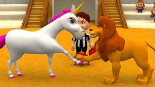 Lion and the Unicorn | Kindergarten Nursery Rhymes & Songs for Kids...