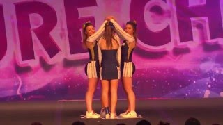 Kingston Cougars Eclipse Level 3 All Girl Group Stunt @ Future Cheer Nationals 2015