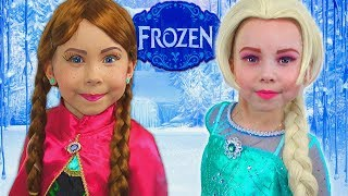Alice as Princess Elsa and Anna | Stories for girls - Compilation video