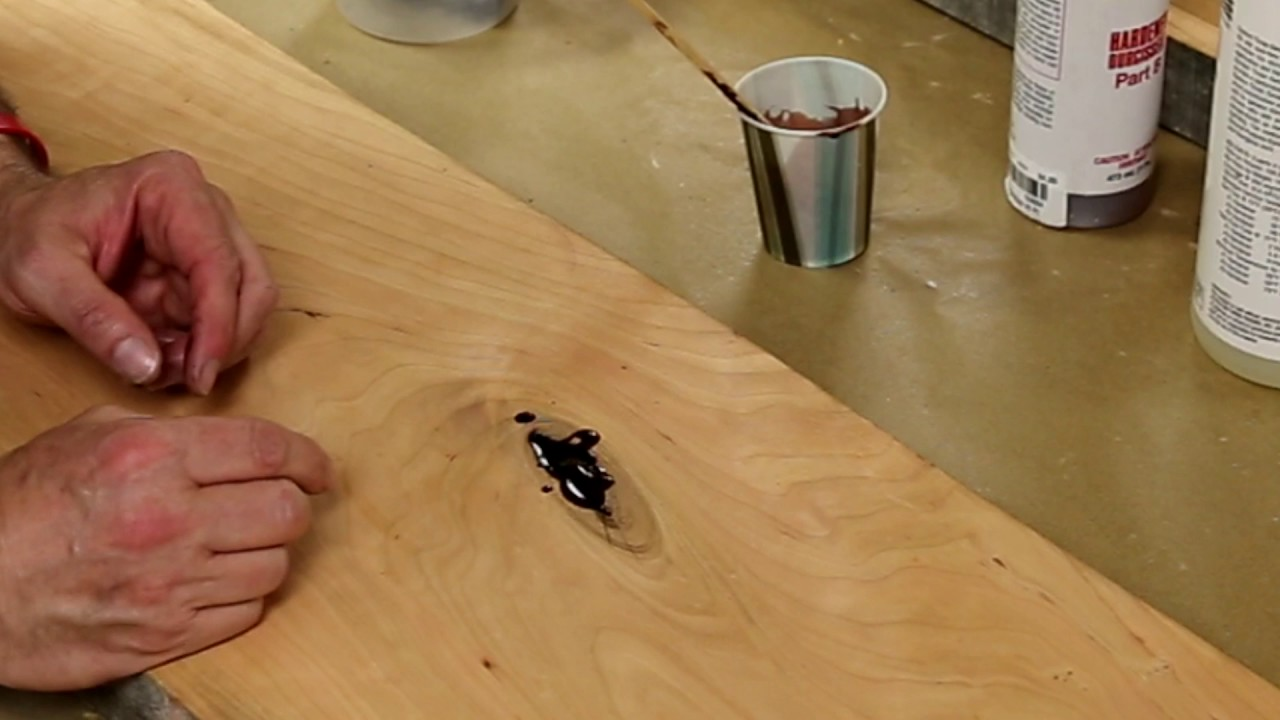 Filling A Knot With Epoxy