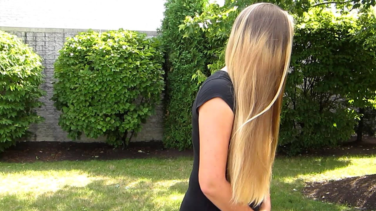 Long Blonde Hair About To Be Cut Off Soon Look Below For