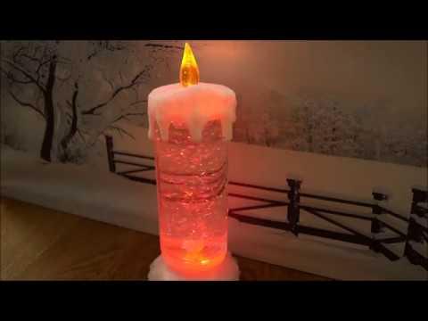 Produktvideo art decor LED Glitzer-Wirbel, leuchtende LED Kerze mit sanftem Farbwechsel, Höhe ca. 24cm