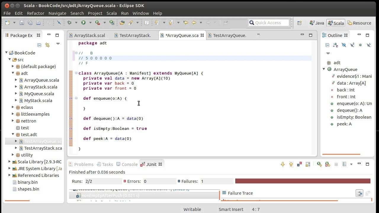 Array based queue and test driven development using scala youtube array based queue and test driven development using scala baditri Images