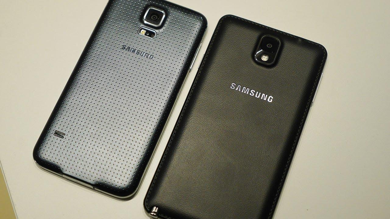 Samsung Galaxy S5 vs Galaxy Note 3 - Quick Look! - YouTube