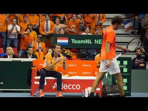 Paul Haarhuis kijkt terug op eerste Davis Cupdag