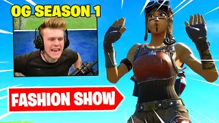 I STREAM SNIPED FASHION SHOWS with OG SEASON 1 SKINS ONLY and  WON!
