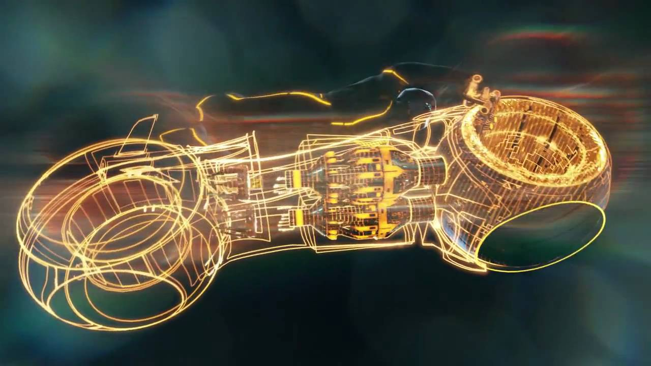 Wallpaper 3d Bike Tron Legacy Download: Tron.Legacy.Video Wallpaper Of Light Cycle