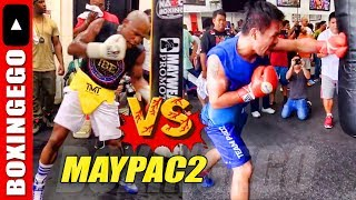 MAYWEATHER VS. PACQUIAO 2 Rematch NEXT? Both fighters post similar pics tho