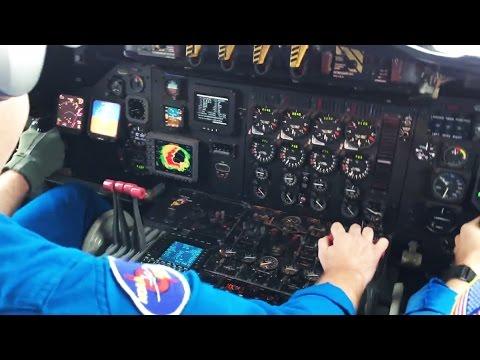 Research plane experiences severe turbulence flying through eye of Hurricane Matthew