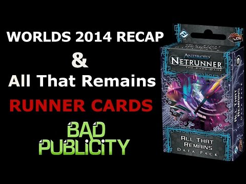 Bad Publicity:Season 03 Episode 06 - Worlds Wrapup And All That Remains Runner Cards