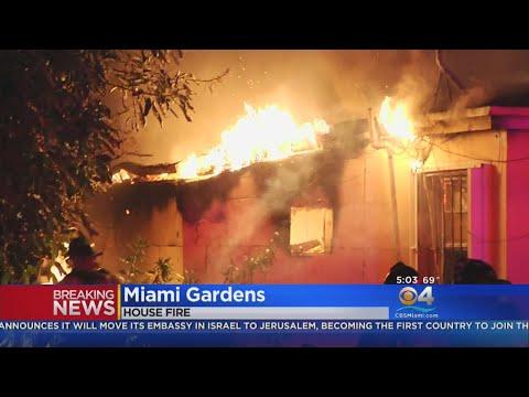 Fire Erupts In Miami Gardens Home
