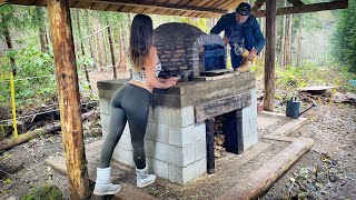 ESCAPE TO THE WILDERNESS // WOOD FIRED BRICK PIZZA OVEN, Day 7   WILD MUSHROOM FORAGING - Ep. 109