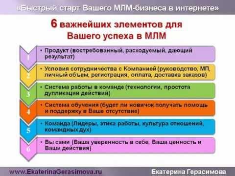 МЛМ-бизнеса в интернете