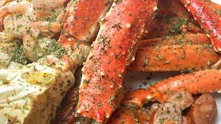 EASY baked king crab &amp snow crab legs!  SNOW CRAB  KING CRAB  CRAB LEGS