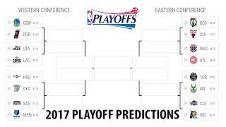 My 2016-2017 NBA Playoff Predictions 100% Accurate