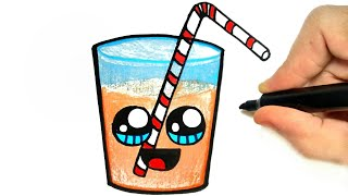 HOW TO DRAW A CUP OF JUICE