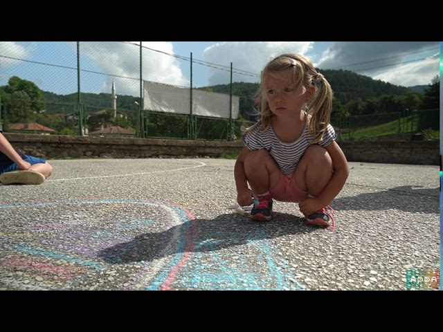 Рисунки на асфалт в с. Арда - спомен от лятото