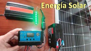 ✅ Cómo Instalar Panel Solar, Batería y Configuración del Control de Carga