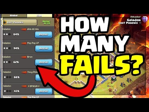 HOW MANY FAILS Does it Take to THREE STAR a Base in Clash of Clans?