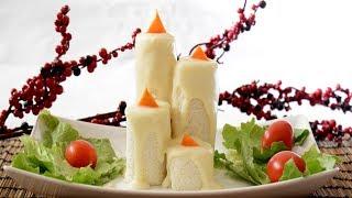 Antipasti Di Natale Freddi.Antipasti Freddi Natalizi Candele Salate Sfiziose E Facili Youtube