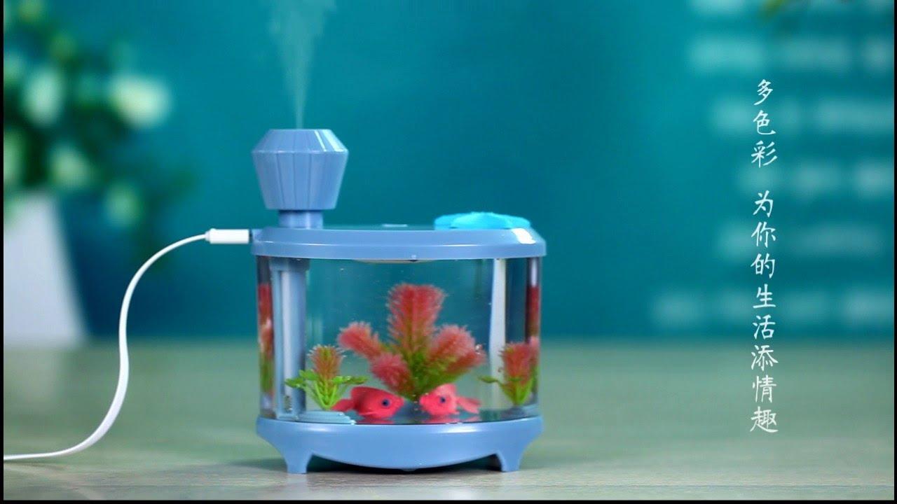 Akvaryum Modeli Hava Nemlendirici Aroma Terapi Difüzör 450 ml İNCELEME!!!