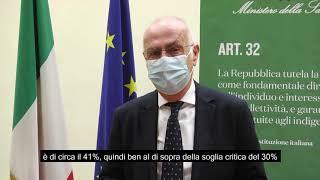 Monitoraggio settimanale Covid-19, il commento di Gianni Rezza al report 29 marzo - 4 aprile 2021