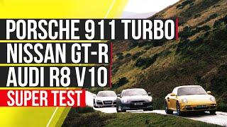 Porsche 911 Turbo Vs Nissan Gt-R Vs Audi R8 V10
