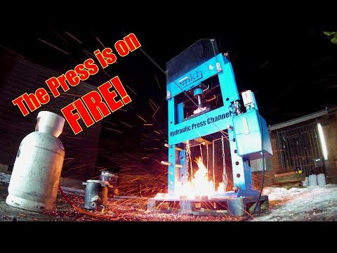 Crushing Molten Copper and Lava with Hydraulic Press
