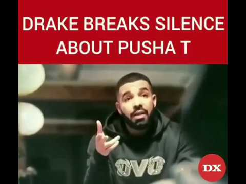 Drake breaks silence about pusha t