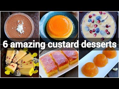 6 amazing custard recipes collection | custard dessert for summer | indian custard recipes