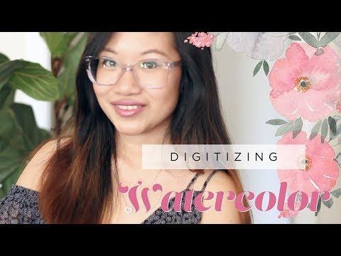 Digitizing Watercolor Illustrations In Photoshop | Sarah B. Calligraphy