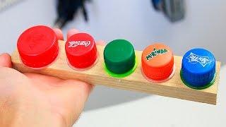 3 Идеи из крышек от пластиковых бутылок/ 3 ideas with plastic bottle caps