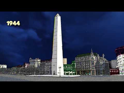 Evolución de la zona del Obelisco y Plaza de la República en el último millón de años