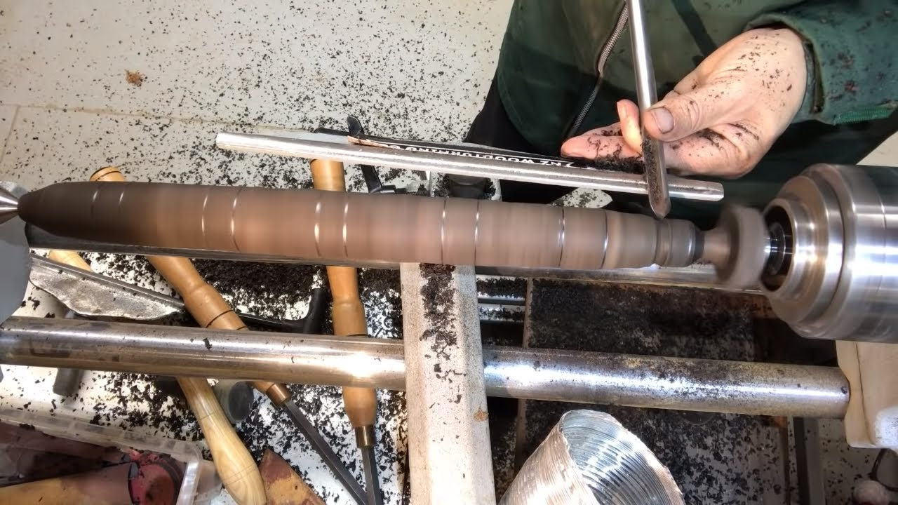 Woodturning making the elder wand from harry potter for Wooden elder wand