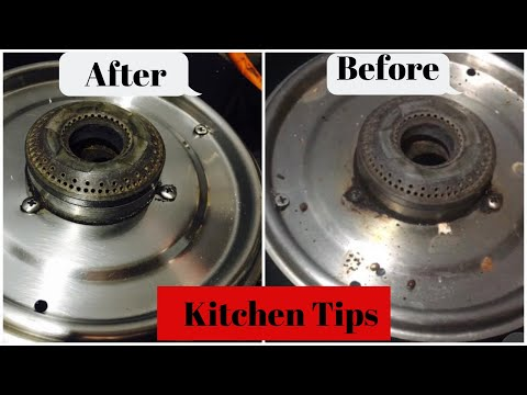 How To Clean Stove Top Easily, Kitchen Tips,Stove Top Stain Remover