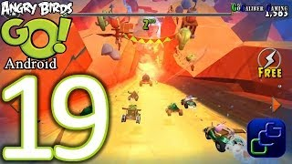 Angry Birds GO Android Walkthrough - Part 19 - STUNT: Track 1