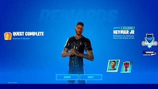 How to Unlock Neymar Jr Skin in Fortnite - Complete Quests from Soccer Characters - Neymar Jr Quests