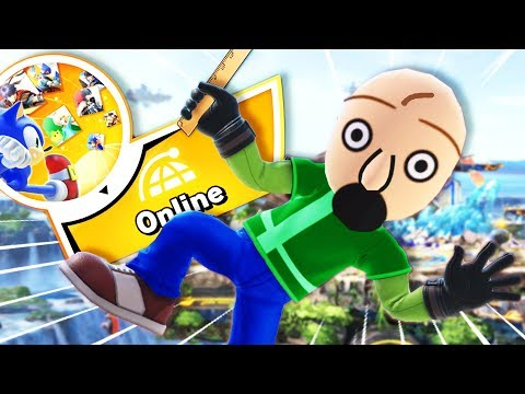 Baldi tries to battle online and gets ABSOULTELY DESTROYED! | Super Smash Bros Ultimate thumbnail